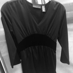 Black on black V-neck top